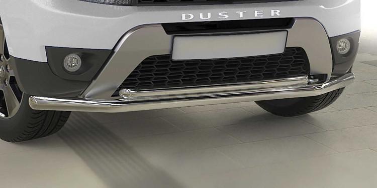 Защита переднего d57+d42 бампера двойная Arbori нерж. сталь для Renault Duster 2015-нв купить